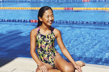 Zoggs Junior Girls Paradise Flyback Swimming Costume - Swimming Fun