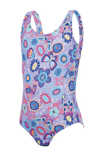 Zoggs Tots Girls Wild Scoopback Swimming Costume - Swimming Fun