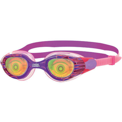 Zoggs Sea Demon Hologram Junior Goggles - Age 6- 14  Years Pink/Purple - Swimming Fun