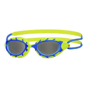 Zoggs Predator Junior Goggle - Blue  / Lime / Smoke - Swimming Fun