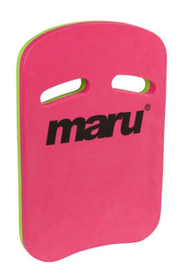 Maru Two Grip Fitness Kickboard - Pink/Lime - Swimming Fun
