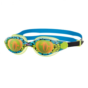 Zoggs Sea Demon Junior Goggles - Age 6- 14  Years Blue/Green - Swimming Fun