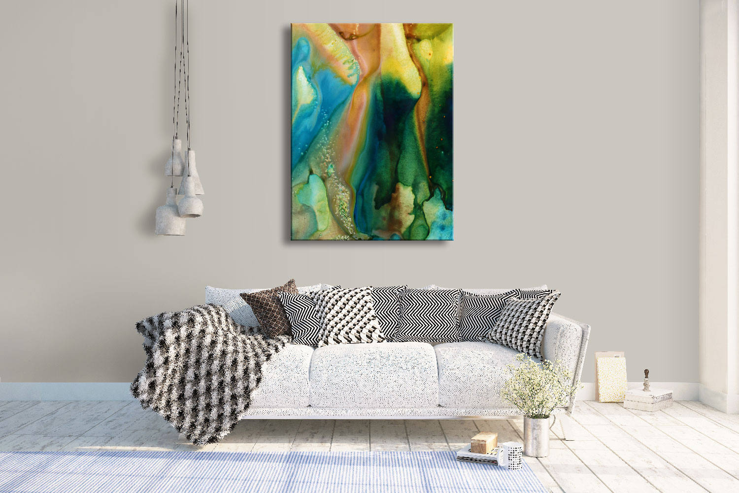 PRISMATIC SERIES #2015, Artist-Signed, Abstract Giclee Wall Art Print, Home Decor - Shulin Sun Studio