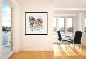 CLIFF SERIES #1006, Artist-Signed, Abstract Giclee Wall Art Print, Home Decor - Shulin Sun Studio