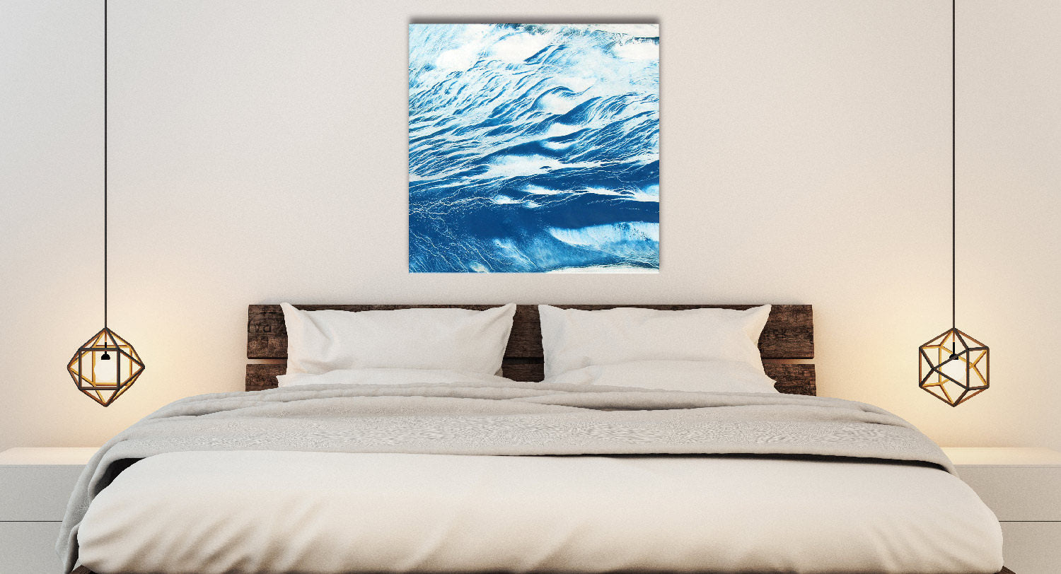 WAVE SERIES #1020, Artist-Signed, Abstract Giclee Wall Art Print, Home Decor - Shulin Sun Studio