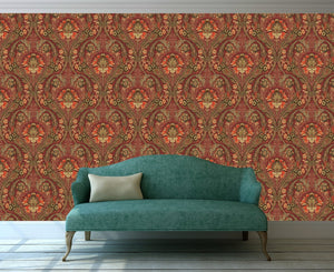 Morrissey Red Peel and Stick Wallpaper MD10801