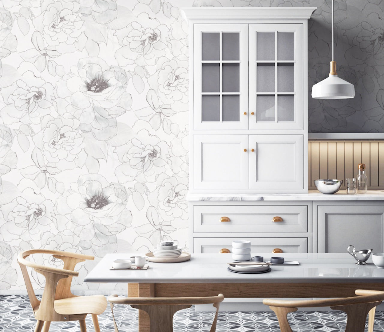 Paper Rose Peel and Stick Wallpaper MD41608
