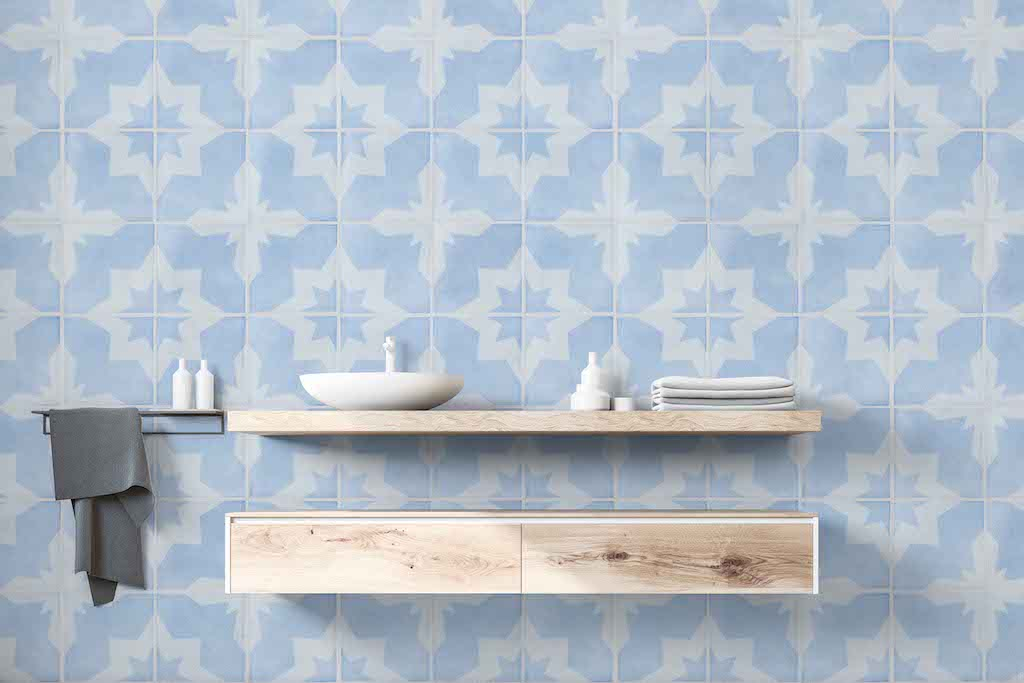 Periwinkle Tile Wallpaper