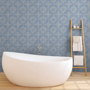 Periwinkle Peel and Stick Tile Wallpaper
