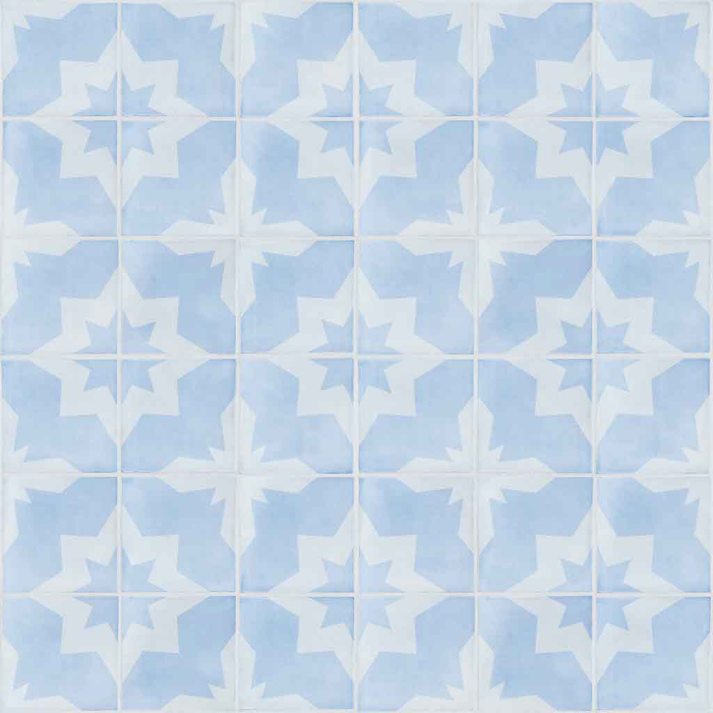 Tile Wallpaper Peel and Stick Periwinkle