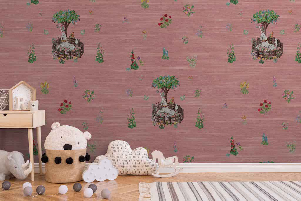 unicorn peel and stick wallpaper pink