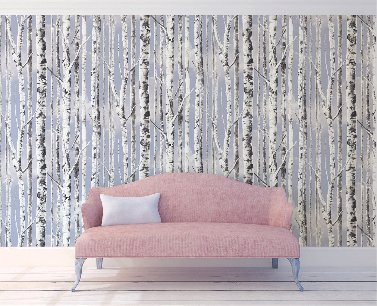 Sky Birch Peel and Stick Wallpaper MD100114