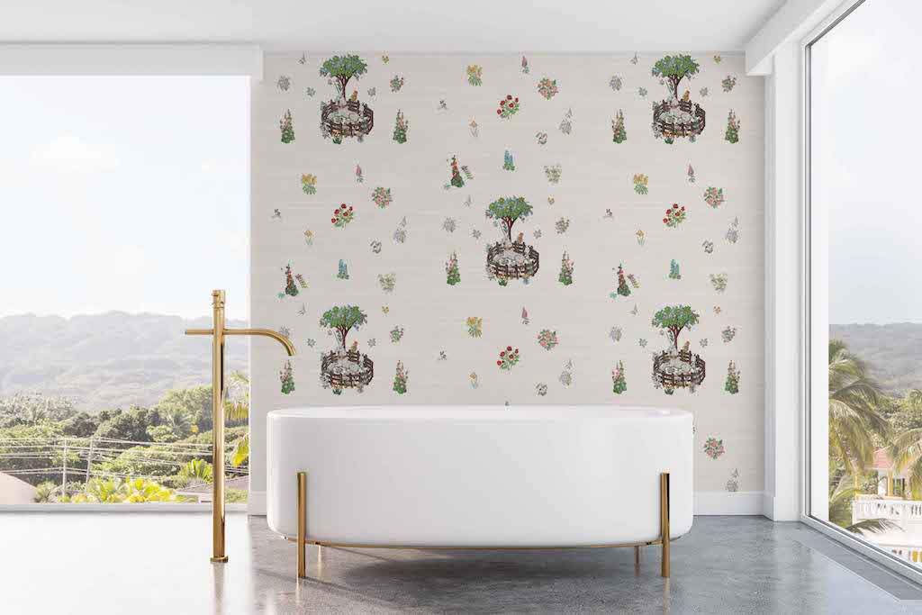 unicorn peel and stick nursery wallpaper