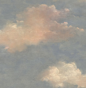 Cloud wallpaper blue and pink