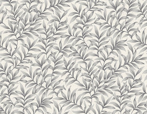 leaf wallpaper steel gray