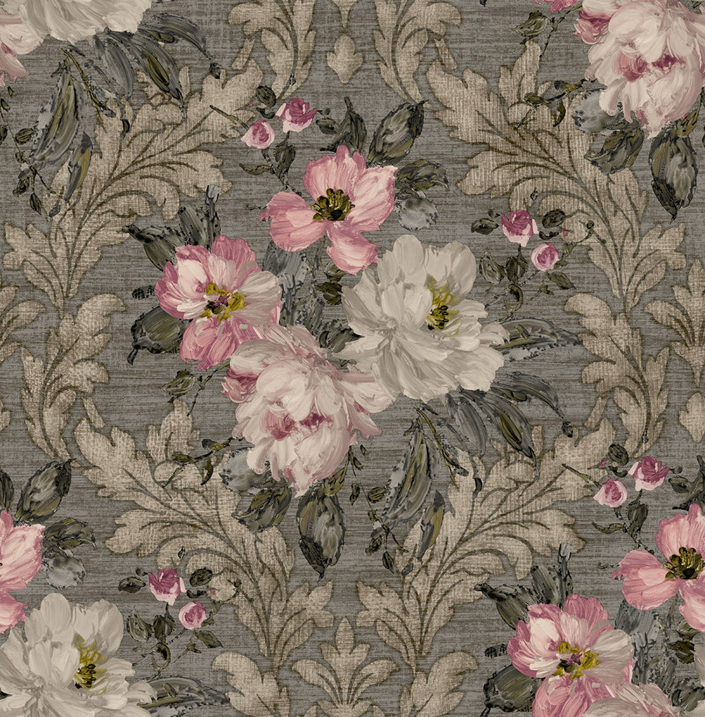 Painted Flowers Damask MF40300