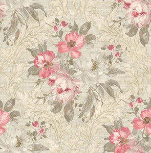 Painted Flowers Damask MF40301
