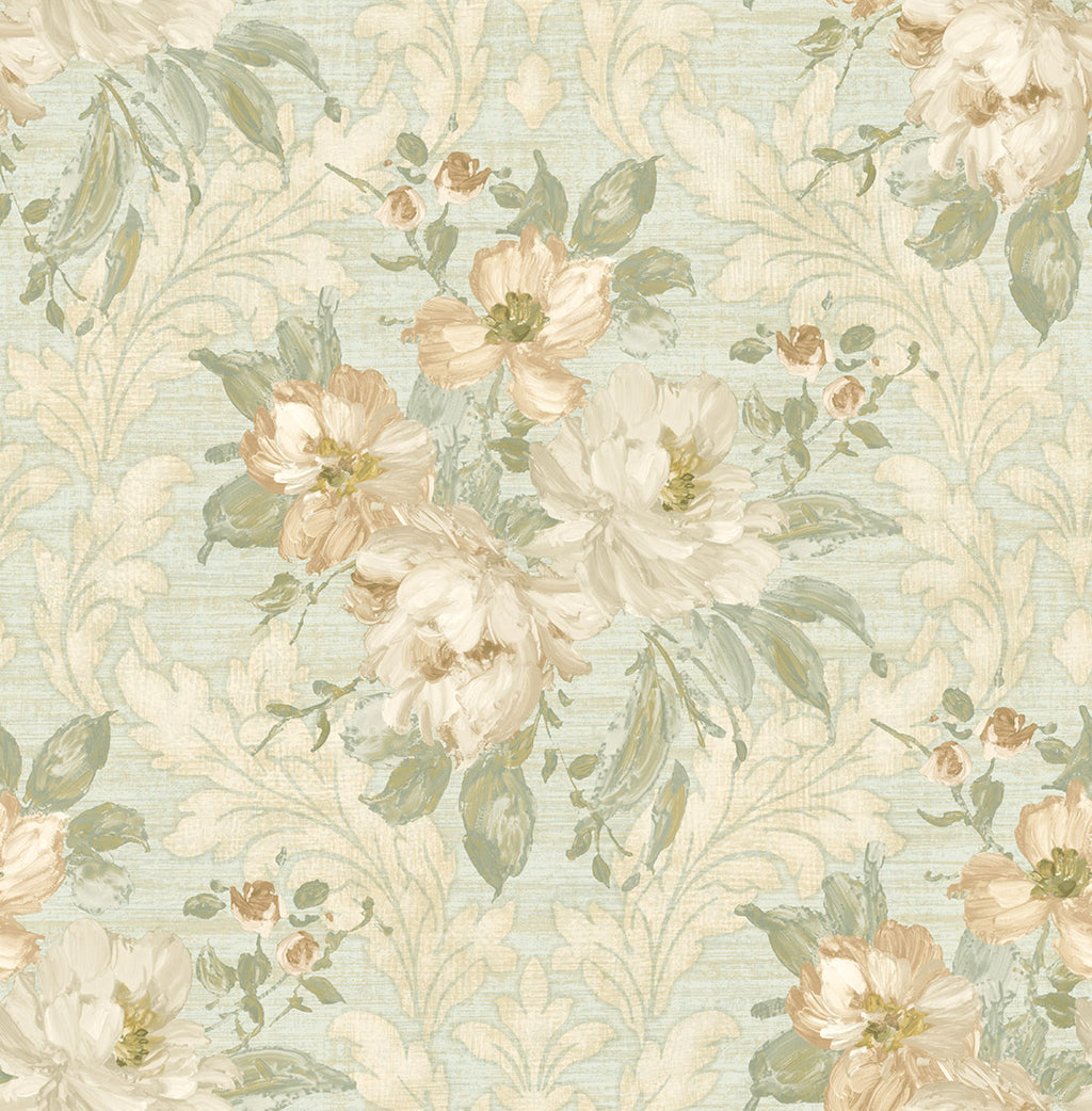 Painted Flowers Damask MF40302