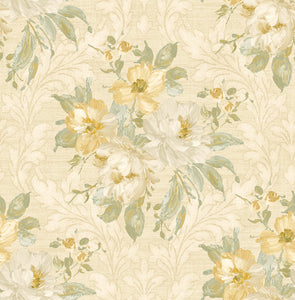 Painted Flowers Damask MF40303