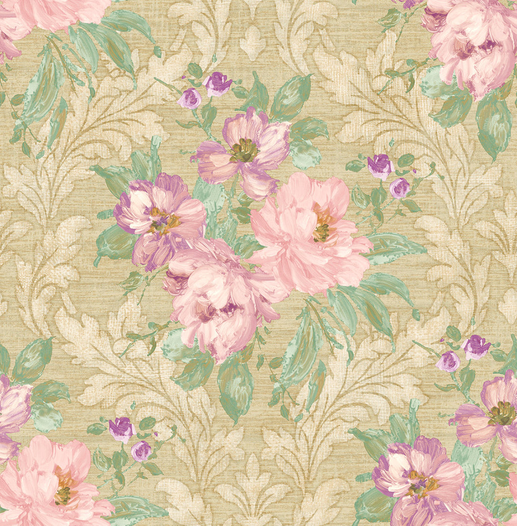 Painted Flowers Damask MF40305