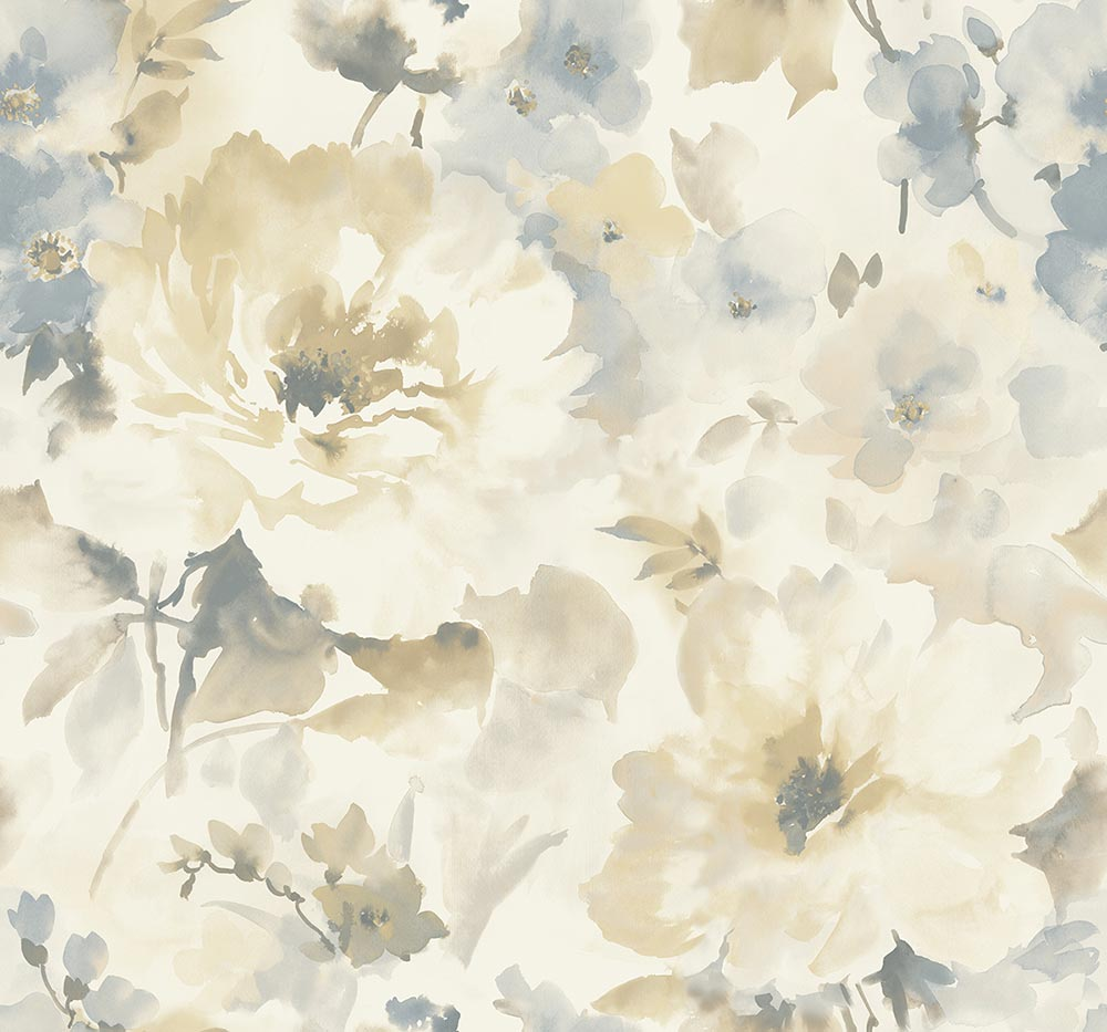 floral wallpaper shades of gray