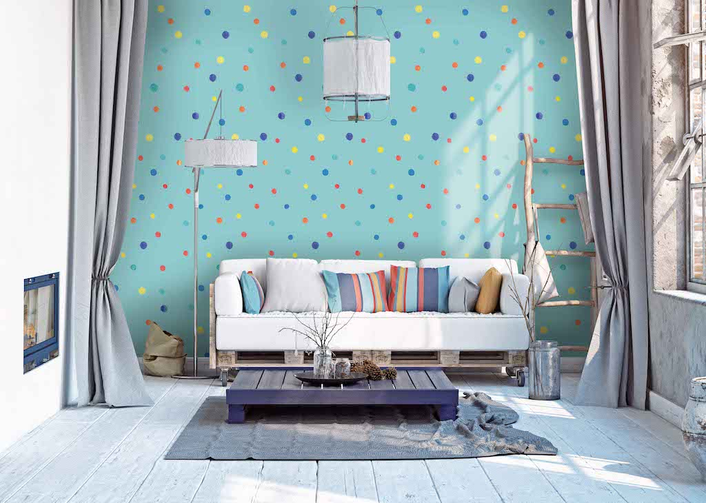Hand painted wallpaper jewel tones removable wallpaper