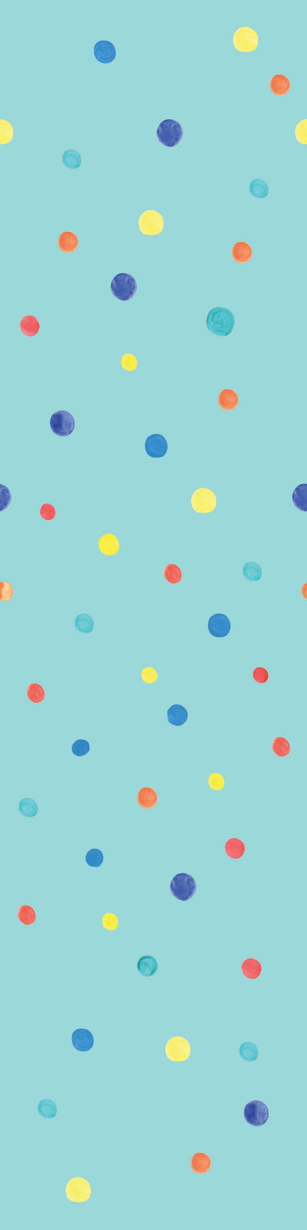 Peel and stick wallpaper colorful polka dot pattern