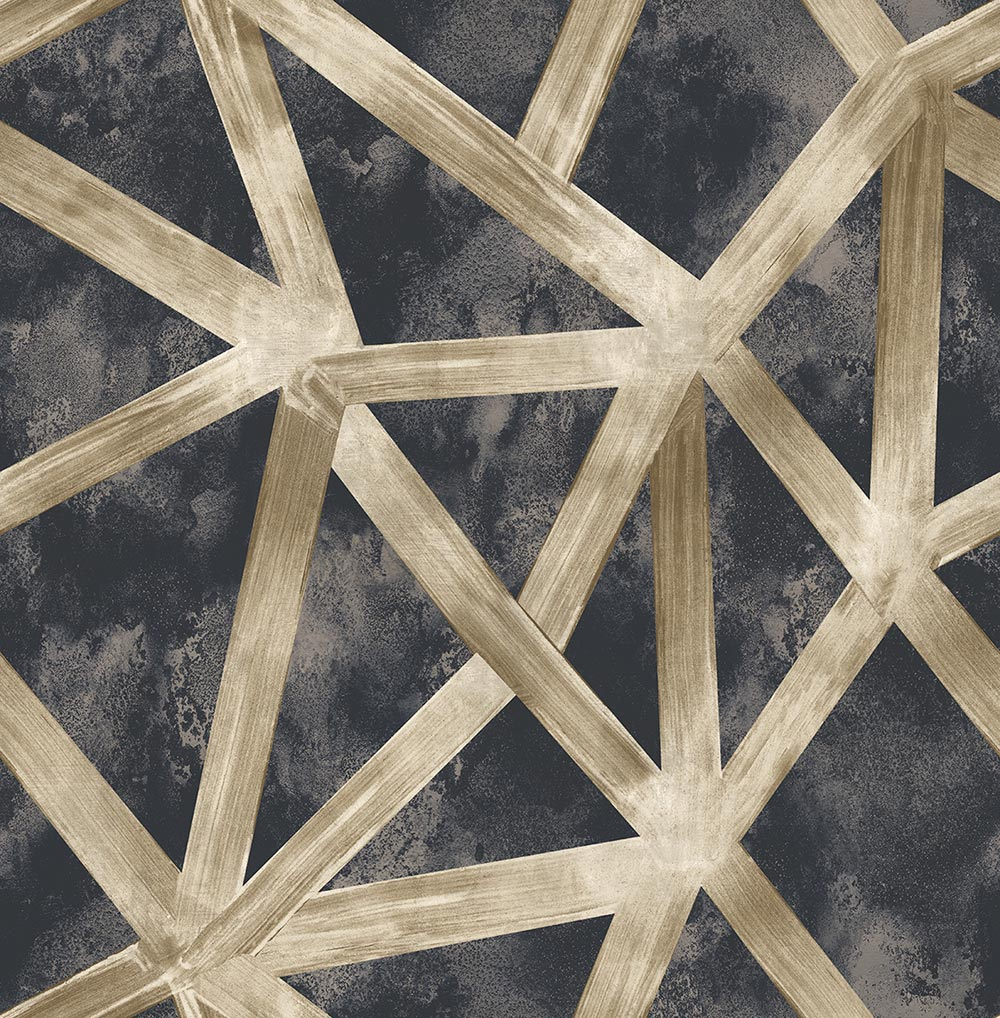 Geometric Wallpaper Black Gold