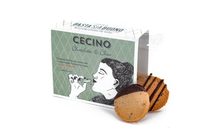 Cecino Choc: the chickpea biscuits with fair-trade chocolate; bio, vegan