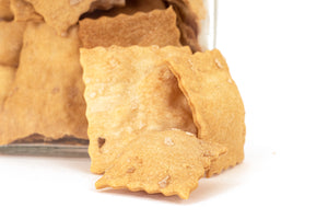 Focaccine: focaccia crackers with paprika and smoked Maldon® Salt