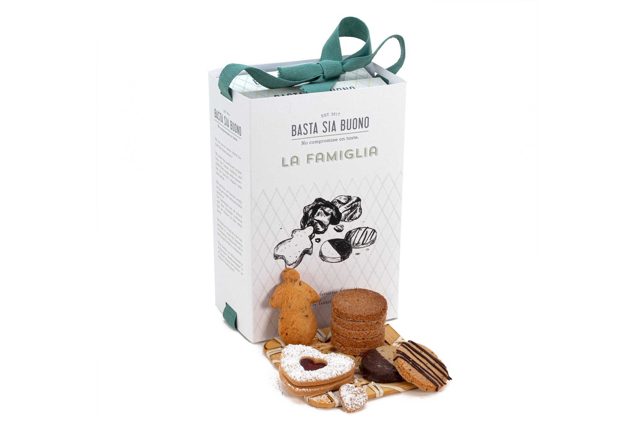 La Famiglia: get all flavours of our vegan cookies in a box.