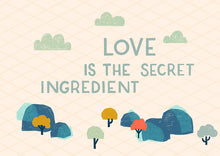 "Wish card choice: ""Love is the secret ingredient"""