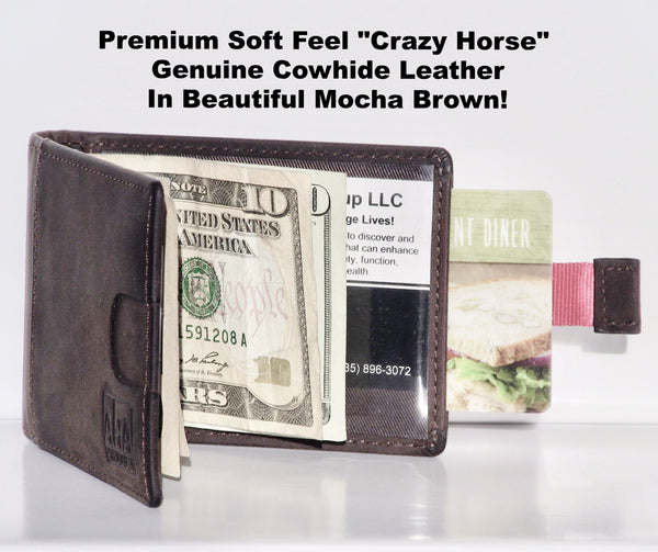 Premium Ultra Slim Leather Wallet by Aha Product: RFID Blocking