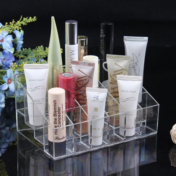 24 Cell Clear Acrylic Cosmetic Organizer: Aha Product