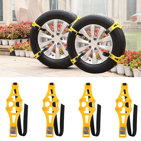 1pc Easy Installation Truck & Car Snow Chain Anti-skid Belt (Need 8pcs for best traction)