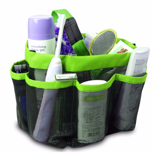 Mesh Fabric Shower Tote- Storage Organizer, 3 Colors: Aha Product
