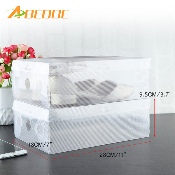10pc Foldable Transparent Clear Storage Shoe Organizer Boxes- Stackable: Aha Product