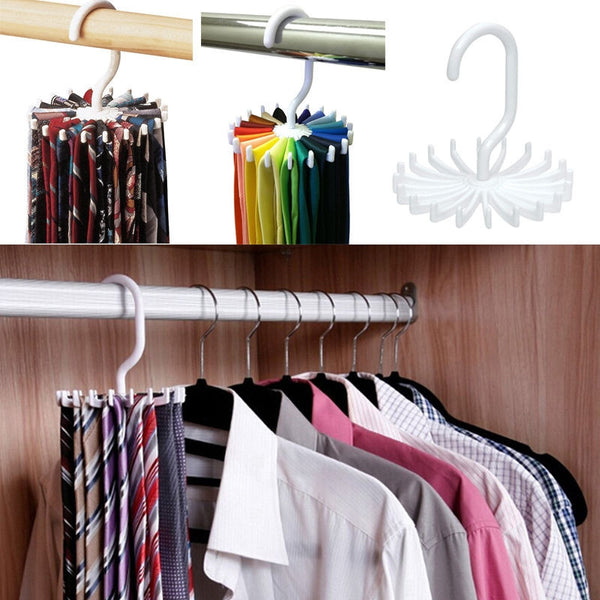 360 Degree Rotating Scarf Tie Hanger- Closet Organizer: Aha Product