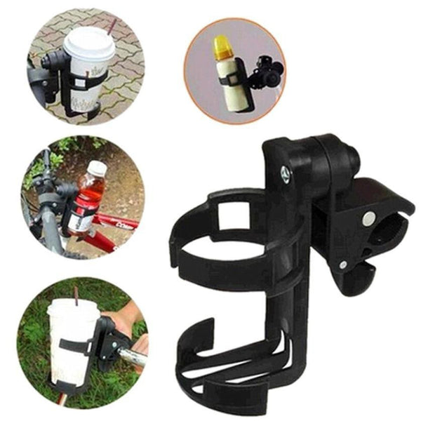 Universal Rotatable Cup Holder for strollers, bikes, and prams by Aha Product