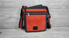 Small Orange Cotton Bag- Handmade in Nepal