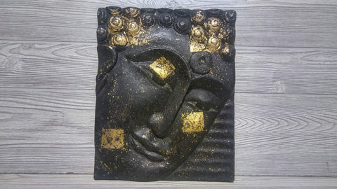Reclaimed Tik Wood Buddha Panel