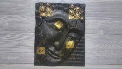 Reclaimed Teak Wood Buddha Panel