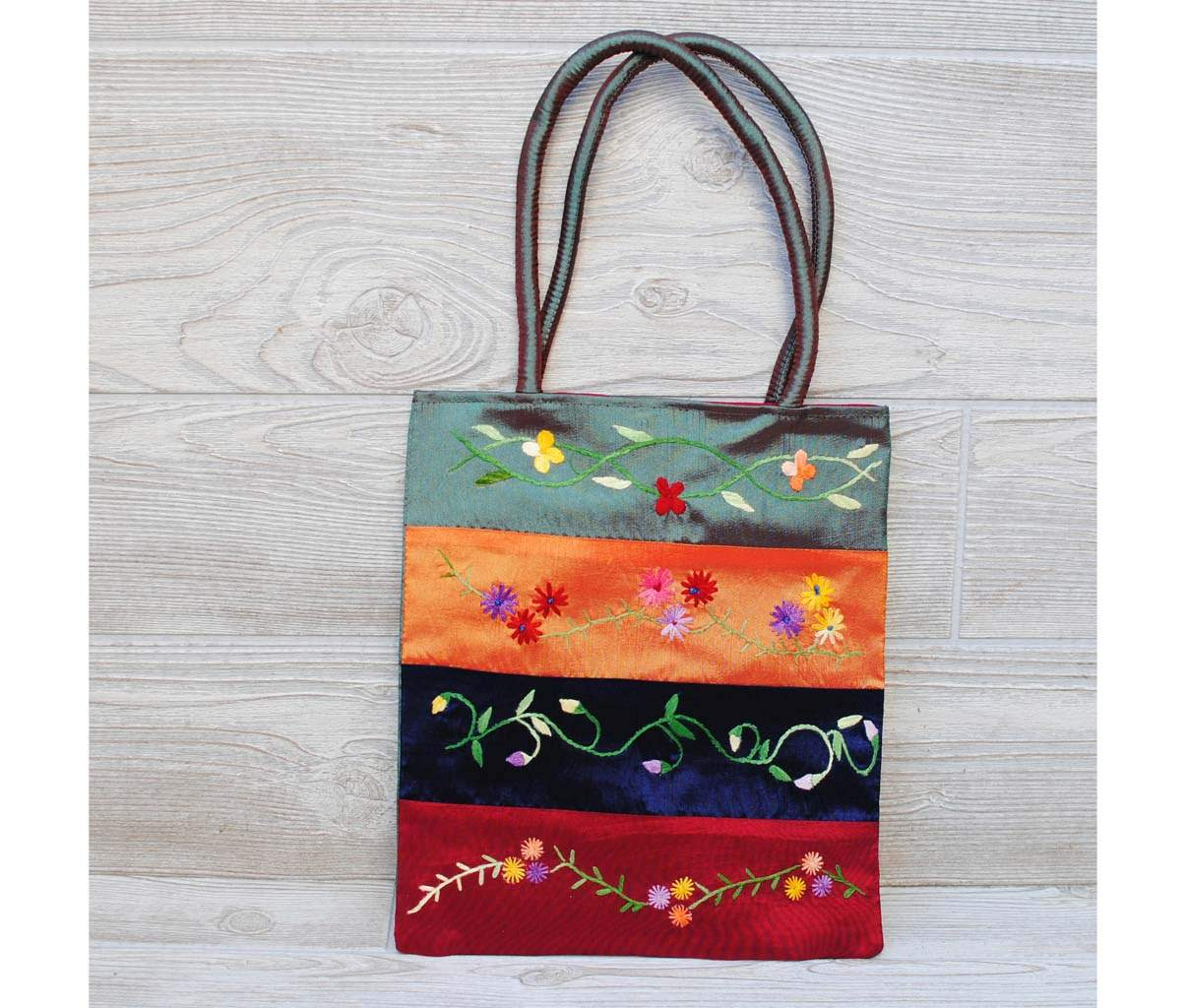 Silk Floral Embroidery Bag 104