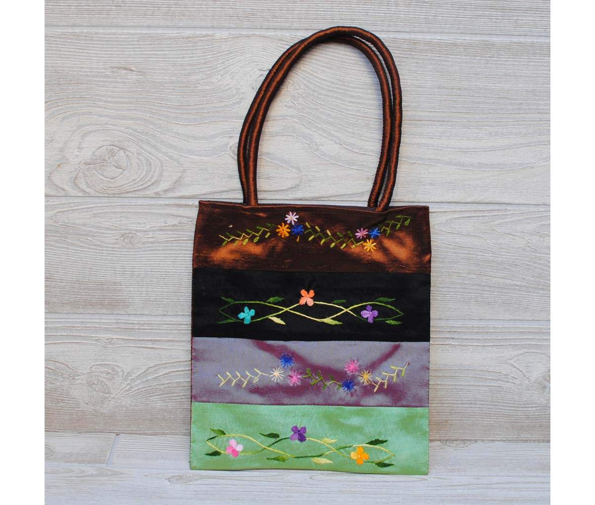 Silk Floral Embroidery Bag 106