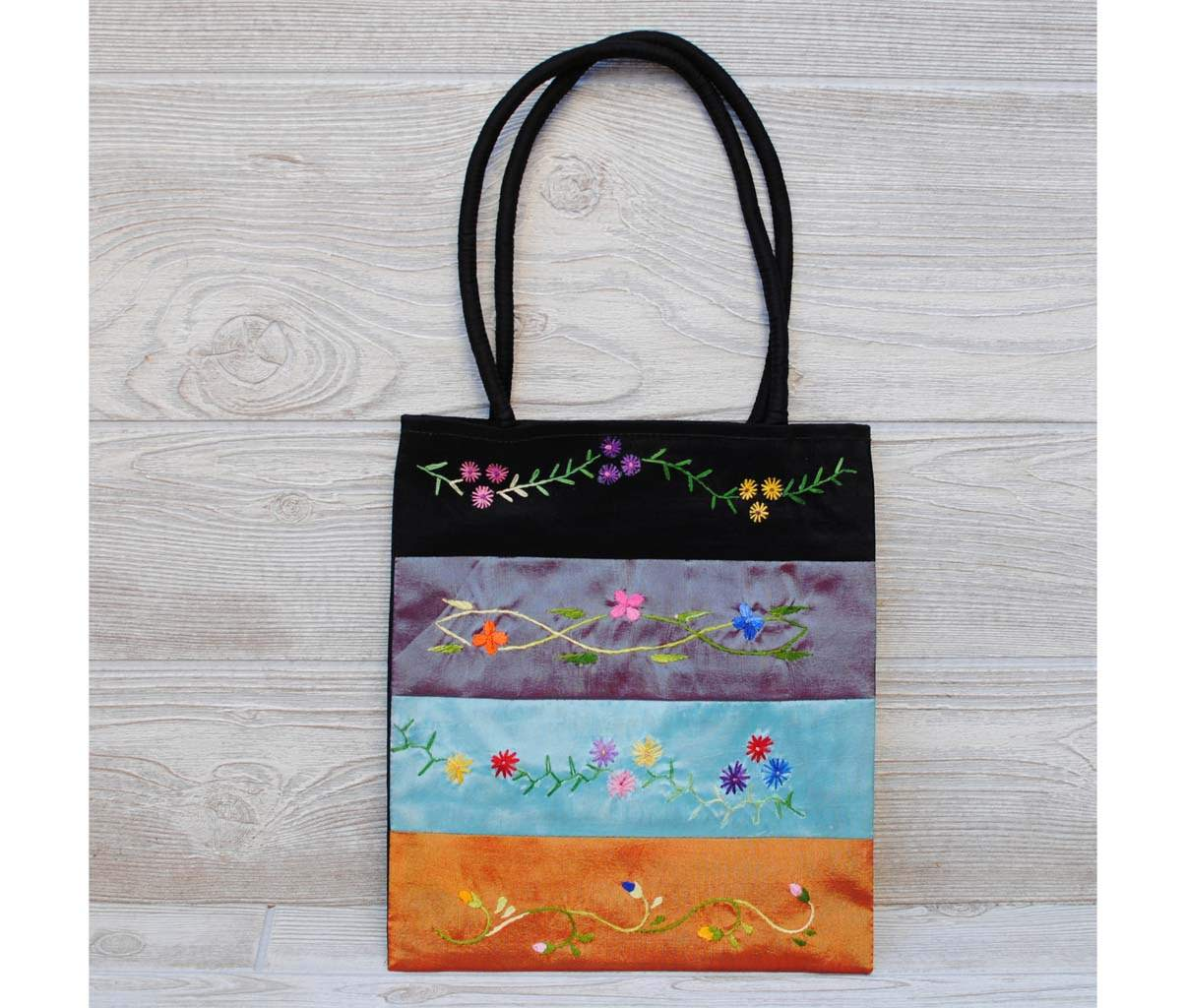 Silk Floral Embroidery Bag 109