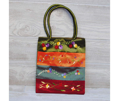Silk Floral Embroidery Bag 111