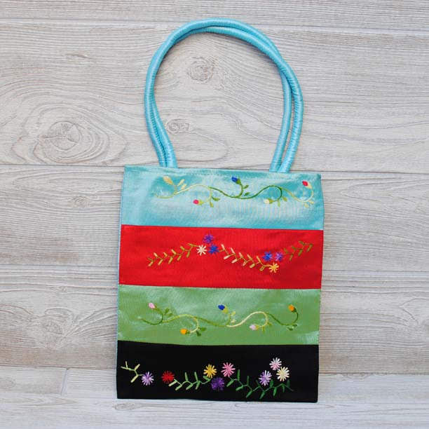Silk Floral Embroidery Bag 102