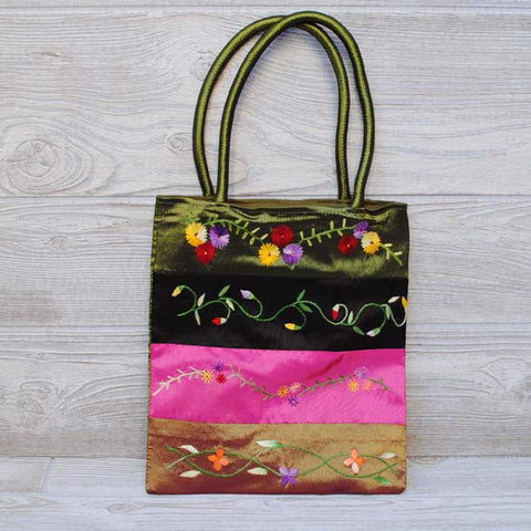 Silk Floral Embroidery Bag 103