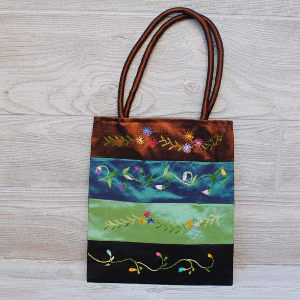 Silk Floral Embroidery Bag 105