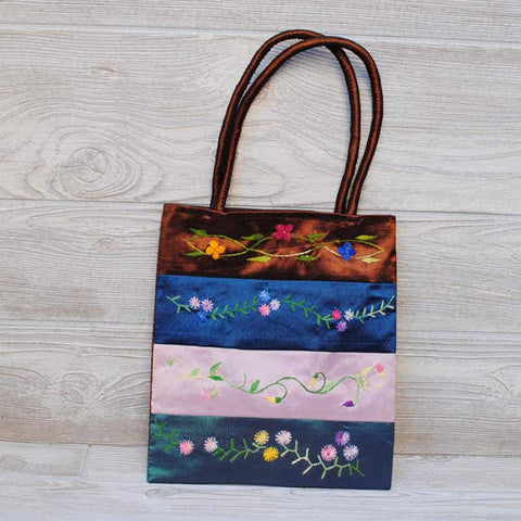 Silk Floral Embroidery Bag 107